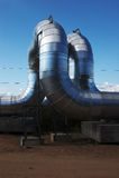 Neue Gashauptleitung Stockfoto