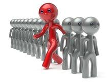 Neue Gelegenheiten der unterschiedlichen Manncharakterleute-Individualität stock abbildung