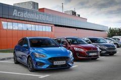 Neue Generation von Ford Focus stockbild