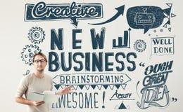 Neue Geschäfts-Produkteinführung beginnen oben Visions-Konzept lizenzfreie stockfotos