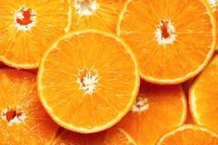 Neue geschnittene orange Fruchtbeschaffenheit Makro, Draufsicht, Kopienraum Dieses ist Datei des Formats EPS8 Saftiger Orangenhin Stockfotos