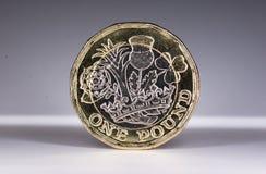 Neue 2017 Großbritannien eine Pfund-Münze Lizenzfreie Stockfotos