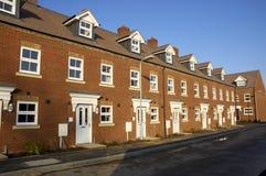 Neue Häuser Stockbild