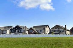 Neue Häuser Stockfotografie