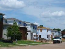 Neue Häuser an der Spottdrossel-Station, SMU Ost Stockfotos