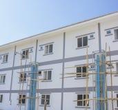 Neue Häuser des Konstruktstandorts Lizenzfreie Stockbilder