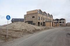 Neue Häuser in homerus buurt in Almere Poort in den Niederlanden Lizenzfreie Stockbilder