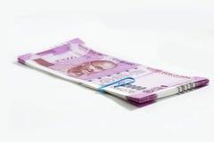 Neue indische Banknoten stockbilder