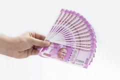 Neue indische Währung Stockfotos