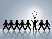 Neue Innovationserfindung der leuchtenden Idee Lizenzfreie Stockfotos