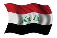 Neue irakische Markierungsfahne lizenzfreie abbildung