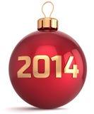 Neue 2014-jährige Flitterdekoration des Weihnachtsballs Stockfoto