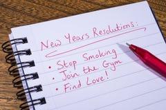 Neue Jahre Auflösung- Lizenzfreie Stockfotos