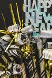 Neue Jahre Ausblasen lizenzfreie stockfotografie
