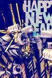 Neue Jahre Ausblasen stockfotografie
