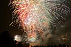 Neue Jahre der Feuerwerke Stockbilder