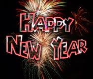 Neue Jahre der Feuerwerks-2 Lizenzfreies Stockfoto