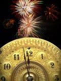 Neue Jahre des Schlages zwölf Stockbild