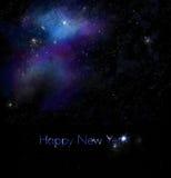 Neue Jahre, die mit Raum-Hintergrund grüßen Stockfotografie