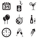 Neue Jahre Eve Icons Stockbild