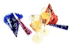 Neue Jahre Eve Party für zwei Lizenzfreie Stockfotos