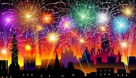 Neue Jahre Eve-Vektor-Illustrations- Lizenzfreies Stockfoto