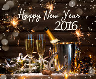 Neue Jahre Feier Stockfoto