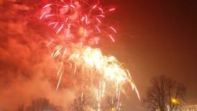 Neue Jahre Feuerwerke Lizenzfreies Stockfoto