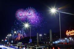 Neue Jahre Feuerwerks- Lizenzfreie Stockfotografie
