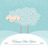 Neue Jahre Grußkarte Symbol von 2015-jährigem Lizenzfreie Stockfotos