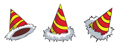 neue Jahre Hutsatz Lizenzfreies Stockfoto