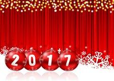 2017 neue Jahre Illustration Stockfotos