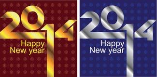 2 neue Jahre Karten Lizenzfreie Stockbilder
