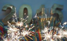 Neue Jahre Nacht Stockbild
