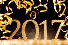 2017 neue Jahre Parteihintergrund Lizenzfreies Stockfoto