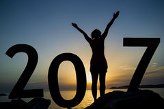 Neue Jahreszeitmitteilung Stockfotos