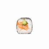 Neue japanische Sushirollen auf einem weißen Hintergrund Lizenzfreie Stockfotografie