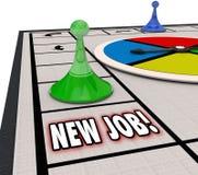 Neue Job Board Game Finding Landing-Karriere-Bewegungs-Förderung Advanci Stockbilder