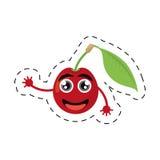 neue Karikaturkirschblattlächeln-Schnittlinie Stockbild