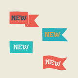 Neue Kennsätze Abbildung auf weißem Hintergrund Stockbilder