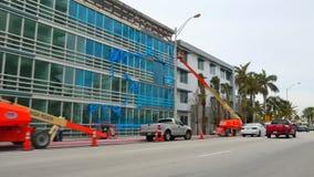 Neue Kondominien des Miami Beach-Baus stock footage