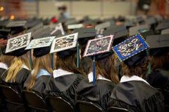 Neue Krankenschwestern: Universität graduiert mit BSN Grad Lizenzfreies Stockbild