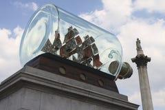 Neue Kunst auf dem vierten Plinth am Trafalgar Quadrat stockfotografie