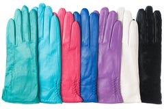 Neue lederne Handschuhe der Frauen Lizenzfreie Stockfotos