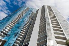 Neue, Luxuxkondominien in Fort Lauderdale, blumig Stockbild