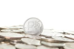 Neue Münze des russischen Rubels Lizenzfreies Stockbild