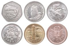 Neue Münzen Barbados Lizenzfreie Stockfotografie