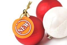 Neue Marke auf Weihnachtskugeln Lizenzfreie Stockfotografie