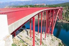 Neue Maslenica-Brücke Lizenzfreies Stockbild