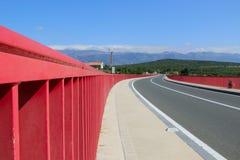 Neue Maslenica-Brücke Stockfoto